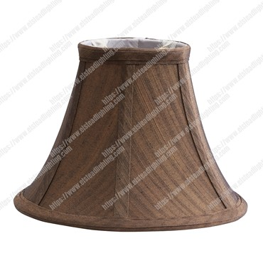 Clip Shades Brown Silk Effect Candel Shade