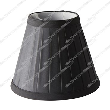Clip Shades Pleated Black Candle Shade
