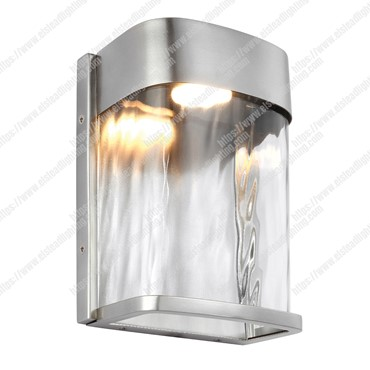 Bennie 1 Light Small LED Wall Light – Painted Brushed Steel