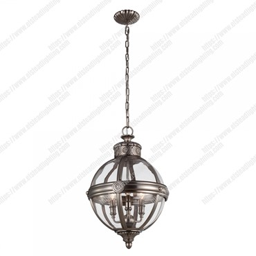 Adams 3 Light Pendant Chandelier – Antique Nickel