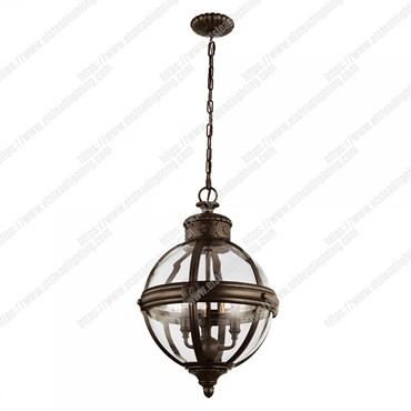 Adams 3 Light Pendant Chandelier – British Bronze