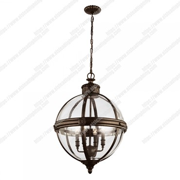 Adams 4 Light Pendant Chandelier – British Bronze