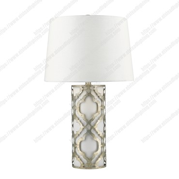 Arabella 1 Light Table Lamp – Distressed Silver
