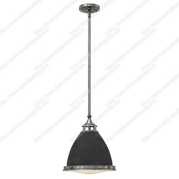 Amelia 1 Light Medium Pendant – Aged Zinc
