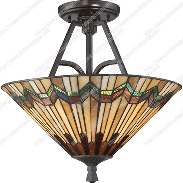 Alcott 2 Light Large Semi Flush